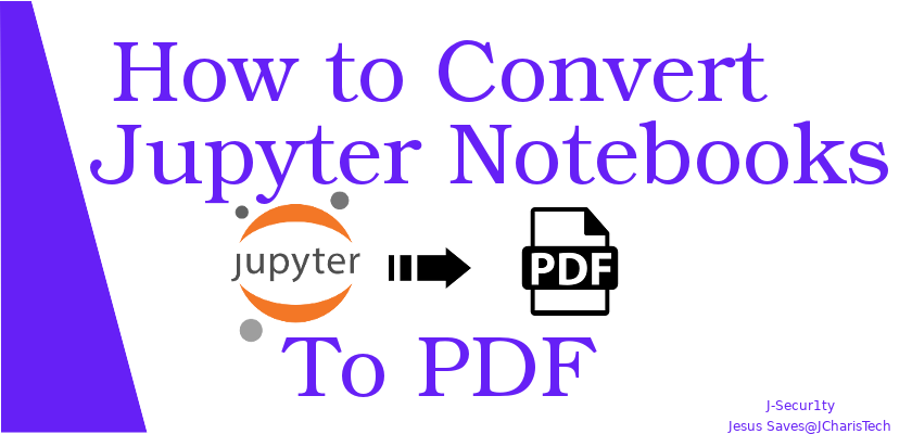 how to convert jupyter notebook to pdf