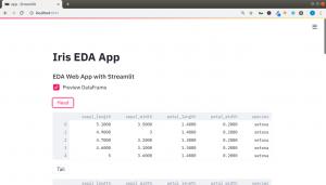 Streaamlit Iris EDA App Python