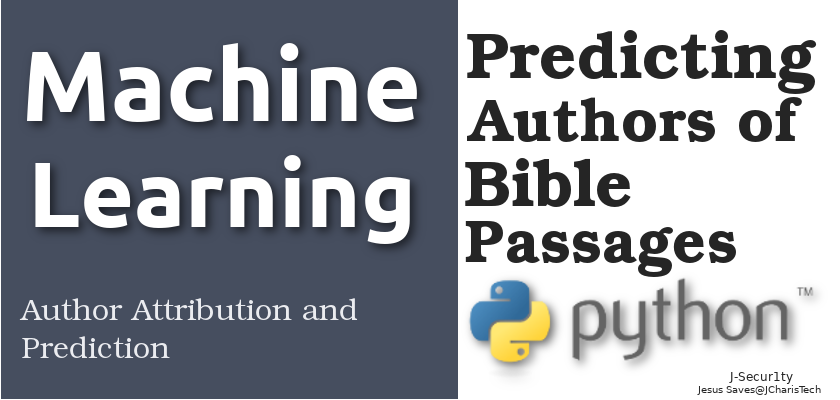 author attribution machine learning in python