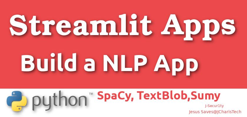 Streamlit NLP App JCharisTech