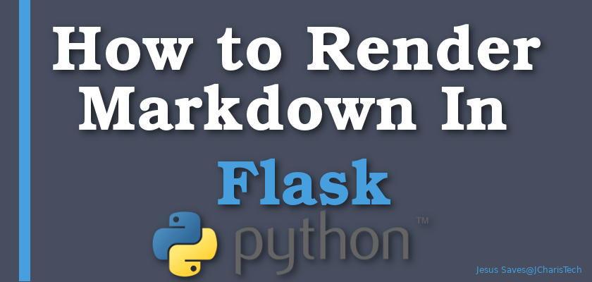 how to render markdown in flask